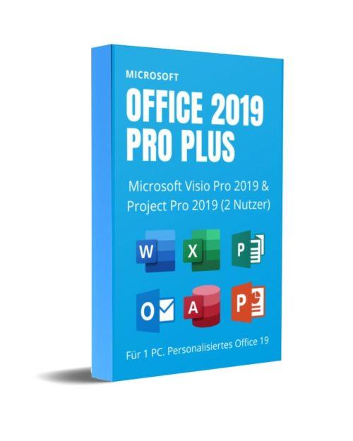 Office Pro Plus 19 mit Visio und Project