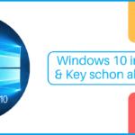 Windows 10 DVD & Schlüssel