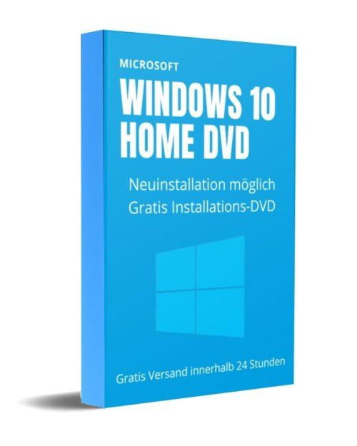 Windows 10 Home mit DVD