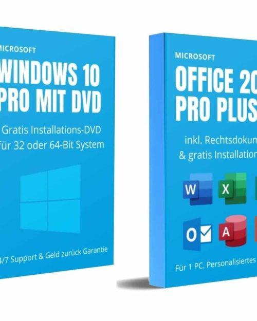 Windows 10 PRO und Office 2019 Pro Plus DVD (Software Bundle)