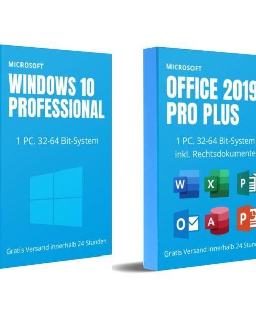 Windows 10 PRO und Office 2019 Pro Plus (Software Bundle)